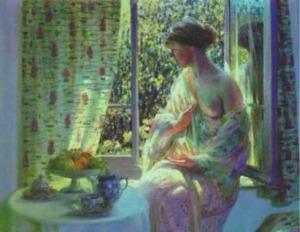 """Louis Ritman """"Donna alla finestra"""" (1899-1963)"""