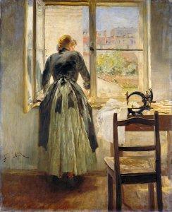 """Friz von Uhde """"Mädchen am Fenster"""" (1890)"""
